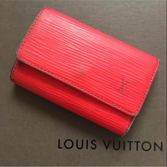 bda68a2fca52 LOUIS VUITTON(ルイヴィトン)のLOUIS VUITTON キーケース エピ 赤 レディースのファッション