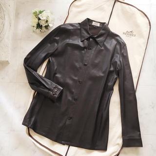 エルメス(Hermes)の新品タグ付♡エルメス♡最高峰70万円♡ラムレザーシャツジャケット(レザージャケット)