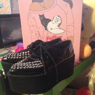 ジェフリーキャンベル(JEFFREY CAMPBELL)のジェフリーキャンベル厚底♡(レインブーツ/長靴)
