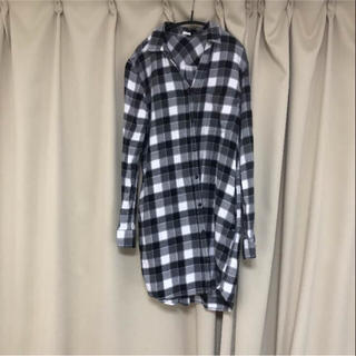 ジーユー(GU)の月末限定セール【美品】綿100%チェックシャツワンピ (ミニワンピース)