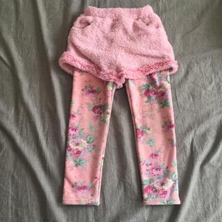 アンジー(ANGIE)の韓国子供服  120  花柄 裏起毛パンツ(パンツ/スパッツ)