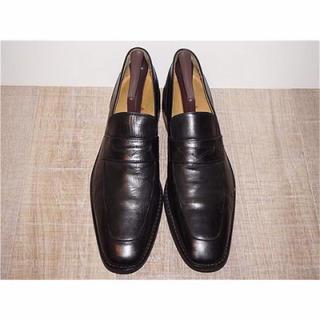 コールハーン(Cole Haan)の美品 コールハーン COLE HAAN コインローファー 黒 28cm10M(ドレス/ビジネス)
