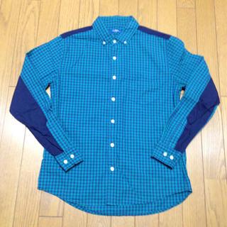 メンズ 緑のチェック柄ボタンダウンシャツ(シャツ)