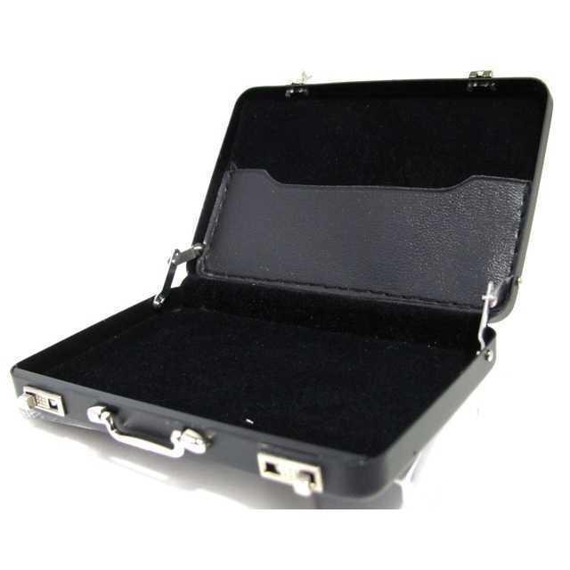 アタッシュ ケース 型 名刺 入れ ケース ブラック 30枚 収納 アルミ合金 メンズのファッション小物(名刺入れ/定期入れ)の商品写真