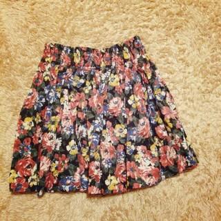 ローリーズファーム(LOWRYS FARM)のレトロ花柄スカート(ミニスカート)