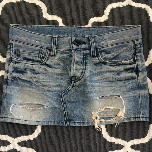 moussy(マウジー)のマウジー デニムミニスカート レディースのスカート(ミニスカート)の商品写真
