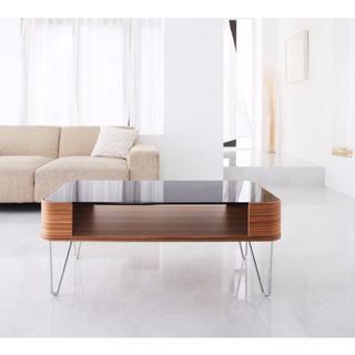 デザイナーズ ガラステーブル 80サイズ(ローテーブル)