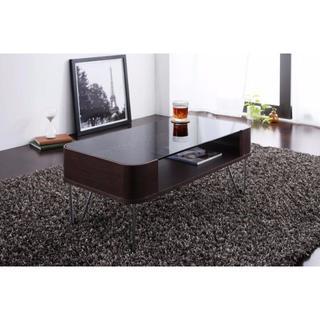 デザイナーズ ガラステーブル 100サイズ(ローテーブル)