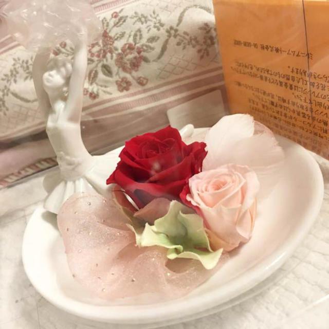 プリザーブドフラワー☆バレエ☆赤薔薇☆インテリア・プレゼントに♡ ハンドメイドのフラワー/ガーデン(プリザーブドフラワー)の商品写真