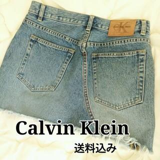 カルバンクライン(Calvin Klein)のカルバンクライン デニムミニスカート Mサイズ 送料込み(ミニスカート)
