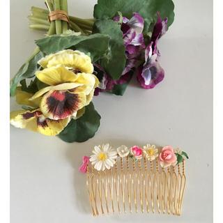 エディットフォールル(EDIT.FOR LULU)のパリ 買い付け①ヴィンテージパーツ お花 コーム  fifi fafa lily(ヘアピン)