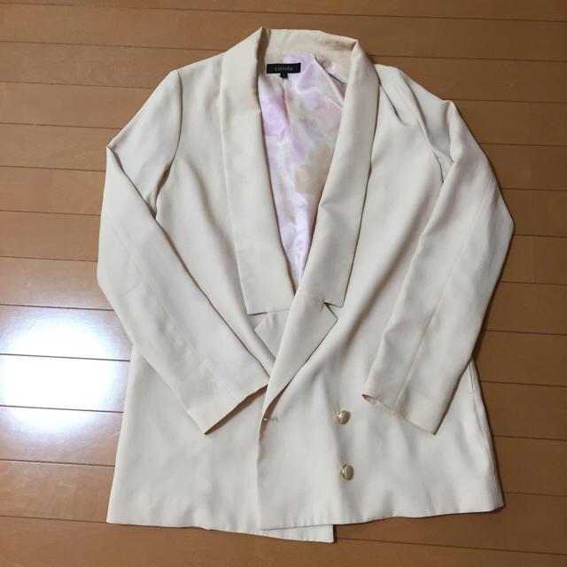 rienda(リエンダ)のロングテーラードジャケット スプリング レディースのジャケット/アウター(テーラードジャケット)の商品写真