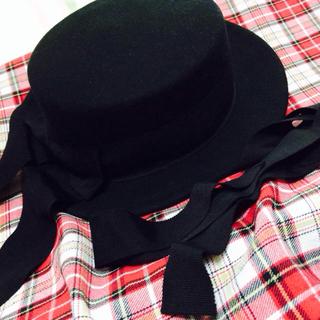 メタモルフォーゼタンドゥフィーユ(metamorphose temps de fille)のメタモ*カンカン帽**着画有(ハット)