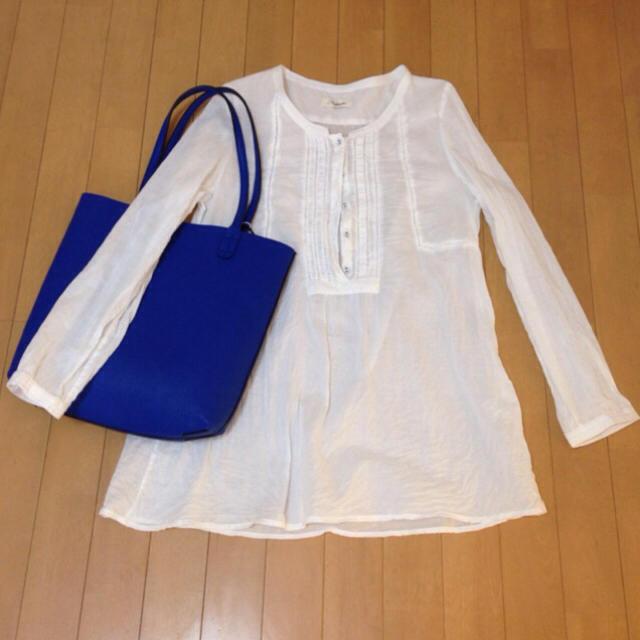 リバーシブル トートバッグ ブルー レディースのバッグ(トートバッグ)の商品写真
