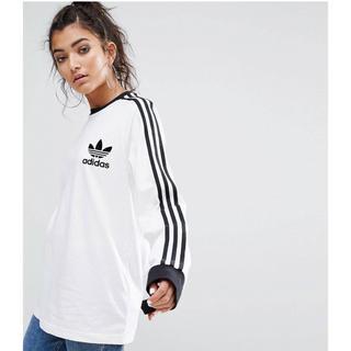 アディダス(adidas)のアディダスオリジナル★3ストライプロンT/ホワイト(Tシャツ(長袖/七分))