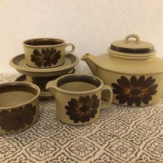 アラビア(ARABIA)のARABIA アラビア・トゥントゥリ ティーセット 北欧ヴィンテージ食器(グラス/カップ)