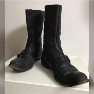キョウジマルヤマ(Kyoji Maruyama)のKyoji Maruyama キョウジマルヤマ レザーブーツ 25.5 黒(ブーツ)