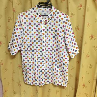 マルチカラードット五分袖シャツ(シャツ/ブラウス(半袖/袖なし))