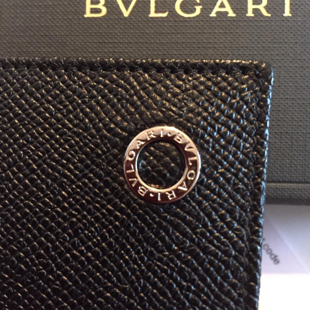 BVLGARI(ブルガリ)の新品未使用 正規品 ブルガリ BVLGARI  カードケース ブラック メンズのファッション小物(名刺入れ/定期入れ)の商品写真