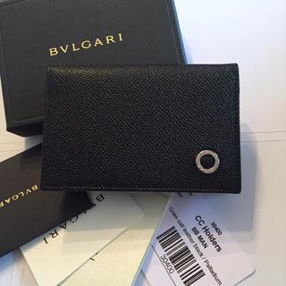 ブルガリ(BVLGARI)の新品未使用 正規品 ブルガリ BVLGARI  カードケース ブラック(名刺入れ/定期入れ)