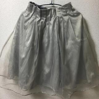 ミスティウーマン(mysty woman)の膝丈 グレー スカート(ひざ丈スカート)