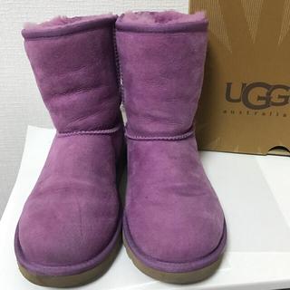 アグ(UGG)のUGG♡キッズ クラシック 22cm パープル 紫(ブーツ)