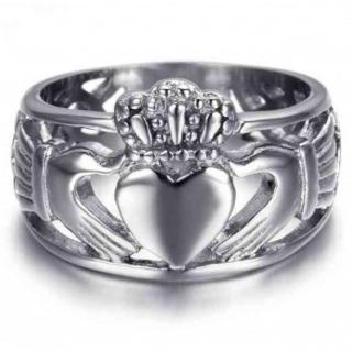 低アレルギー ステンレス チタン鋼リング( 20号) 愛、友情、幸せの象徴(リング(指輪))