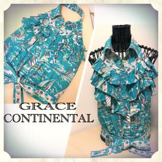 グレースコンチネンタル(GRACE CONTINENTAL)の【グレースコンチネンタル】ホルターネック✳︎シャツ✳︎ブラウス(シャツ/ブラウス(半袖/袖なし))