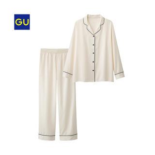 ジーユー(GU)のジーユー サテン パジャマ ホワイト(パジャマ)