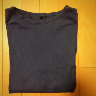 ムジルシリョウヒン(MUJI (無印良品))の無印良品 コットン七分袖Tシャツ 紳士XS(Tシャツ/カットソー(七分/長袖))