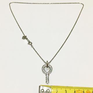 ゼハート(ZHEART)のZHEART ネックレス キー モチーフ ストーン カットボール SV925製(ネックレス)