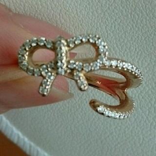 ポンテヴェキオ(PonteVecchio)の新品同様☆ダイヤモンドリボンリング(リング(指輪))