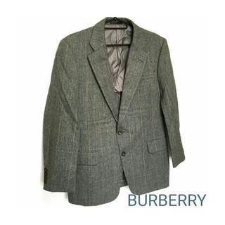 バーバリー(BURBERRY)の正規 BURBERRY 上質 テーラード ジャケット グレー チェック メンズ(テーラードジャケット)