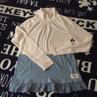 イッカ(ikka)の新品未使用!ピンク×ブルー カットソー 150(Tシャツ/カットソー)