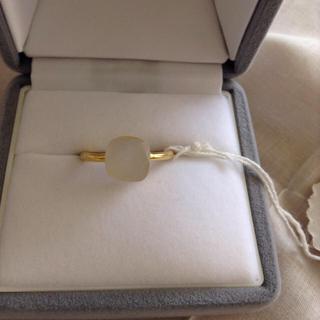 ホワイトオニキス リング 14〜15号 インドジュエリー 新品(リング(指輪))