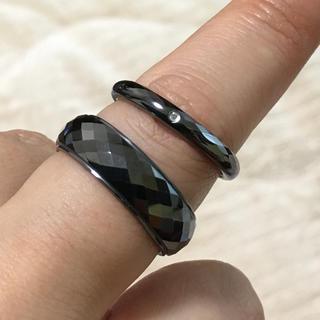 ブラックタングステン リング 2種類セット(リング(指輪))