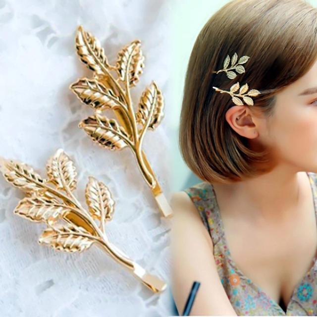 翌日発送 【新品】 2本セット ゴールド モチーフ ヘアピン レディースのヘアアクセサリー(ヘアピン)の商品写真