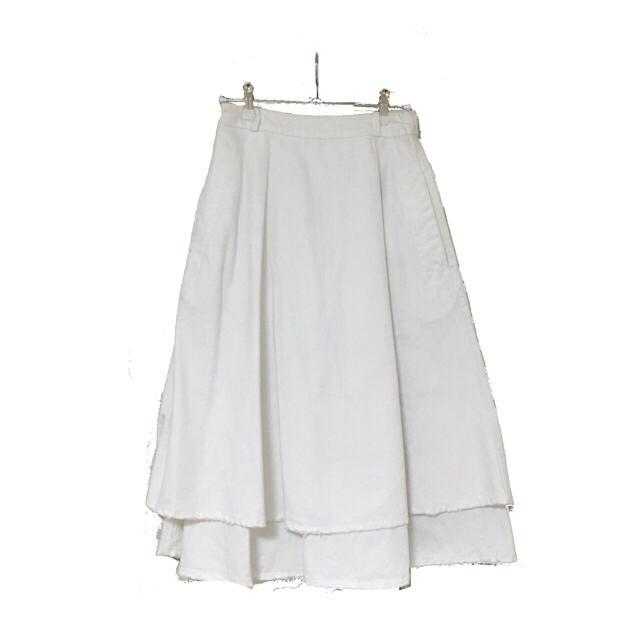 i(アイ)のikumi クラッシュデニムスカート 白 黒 2点 高橋愛 私服