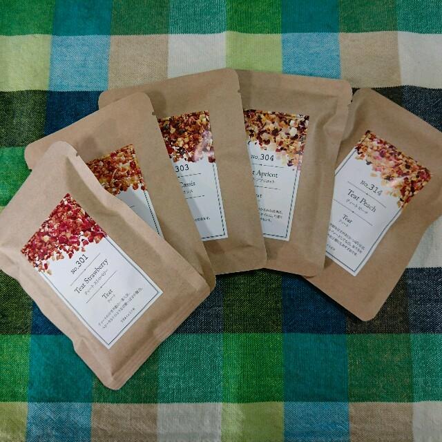 ティートリコ(TEAtrico) 10g色々5点5種セット 食品/飲料/酒の飲料(茶)の商品写真