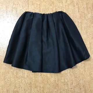 ニーナミュウ(Nina mew)のnina mew シャンタンフレアスカート ボリューム ブラック(ひざ丈スカート)