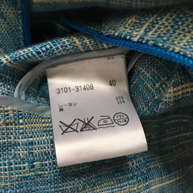FOXEY(フォクシー)の【あ様 専用出品】アンスペック リネン テーラードジャケット ブルー レディースのジャケット/アウター(テーラードジャケット)の商品写真