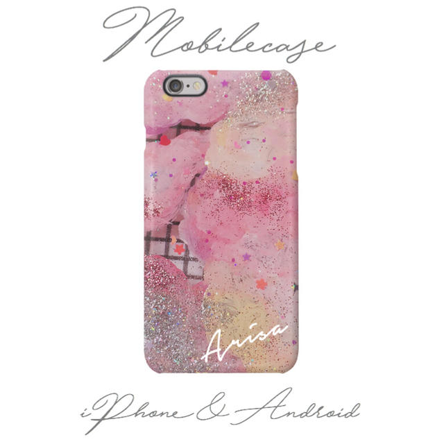 名入れ可能♡ドリーミングピンク柄スマホケース♡iPhone以外も対応機種多数ありの通販 by welina mahalo|ラクマ