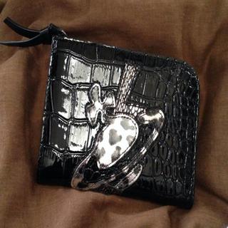 ヴィヴィアンウエストウッド(Vivienne Westwood)の【ヴィヴィアン】クロコダイル柄財布黒(財布)
