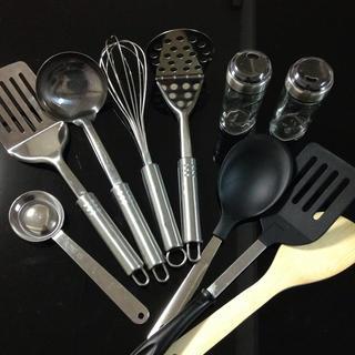 ムジルシリョウヒン(MUJI (無印良品))のキッチンツール 調理器具 まとめ売り セット おたま フライ返し 調味料入れ(調理道具/製菓道具)