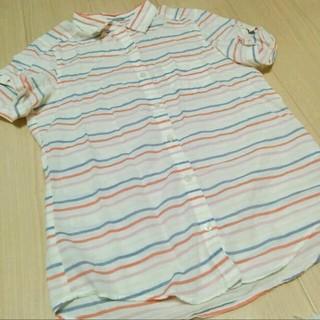 ジーユー(GU)の送料込み!GU♡マルチボーダーシャツ(シャツ/ブラウス(半袖/袖なし))