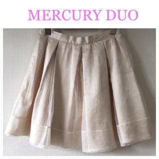 マーキュリーデュオ(MERCURYDUO)のMERCURY DUO オーガンジースカート(ミニスカート)