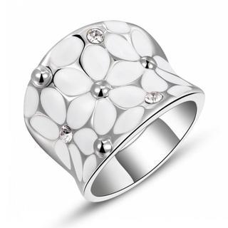 ホワイトゴールドフラワーリング 16号(リング(指輪))