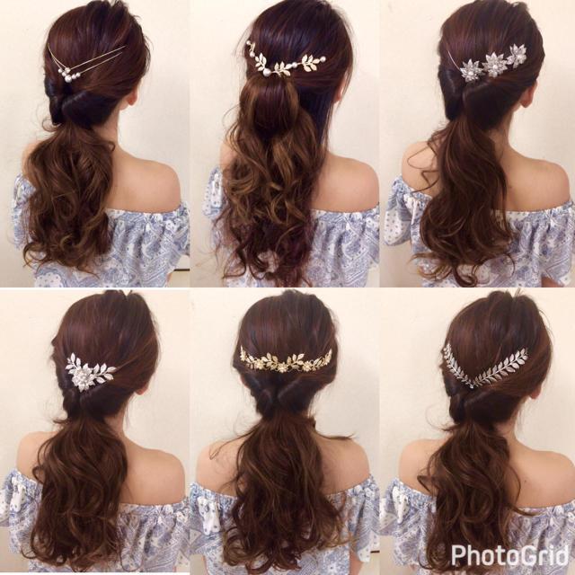 【残り3点】バックカチューシャ シルバー レディースのヘアアクセサリー(カチューシャ)の商品写真