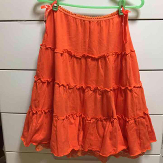 リズリサ(LIZ LISA)のLIZ LISA オレンジリボンスカート(ひざ丈スカート)