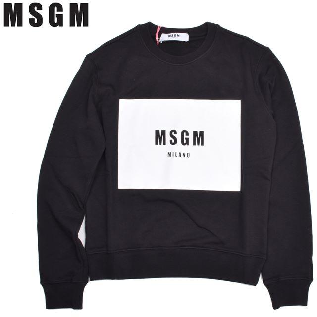 MSGM(エムエスジイエム)のMSGM レディース ブラックロゴ長袖スウェット トレーナー XS レディースのトップス(トレーナー/スウェット)の商品写真
